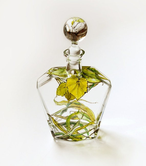 Glass Decanter - Botanical, Grass Fields Collection