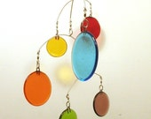 Glass Mobile - Circles - approx 18inch