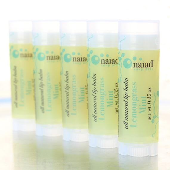 Lemongrass Mint All Natural Lip Balm - All Natural Lip Moisturizer