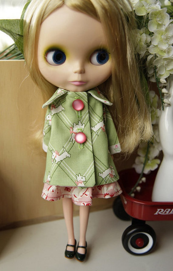 Green Westie Jacket for Blythe