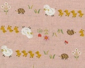 Hedgehogs, Sheep and Duckies --Japanese Import Fabric Fat 1/8--