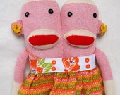 Siamese Twins Sock Monkey- Lila and Lola
