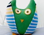 SALE Owl Plush Made From Recycled Sweaters