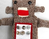 Sock Monkey Robot Plush Toy 3rd in a Series