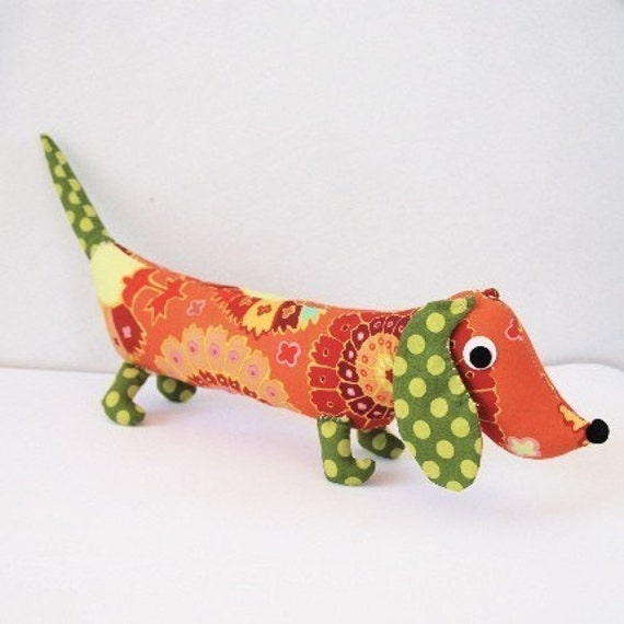 Plush Wiener Dog Toy Dachshund CHET