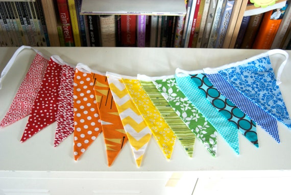 Rainbow Bunting Garland- 10 Feet Long