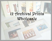Wholesale - 12 Count - Fine Art Prints - 5 x 7 inch in an 8 x 10 inch Mat - Ready to Frame