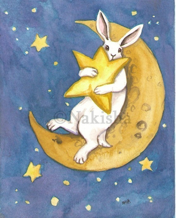 The Star - The Rabbit Tarot - Limited Edition Fine Art Print