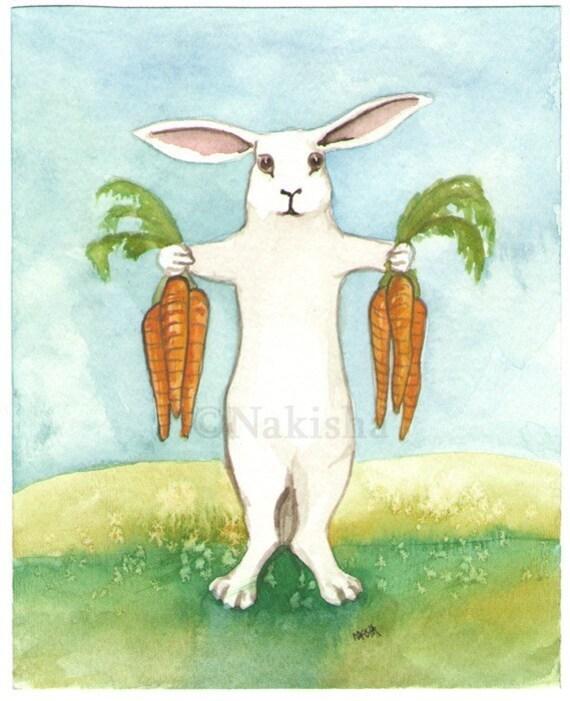 Temperance- The Rabbit Tarot - Limited Edition Fine Art Print - SALE
