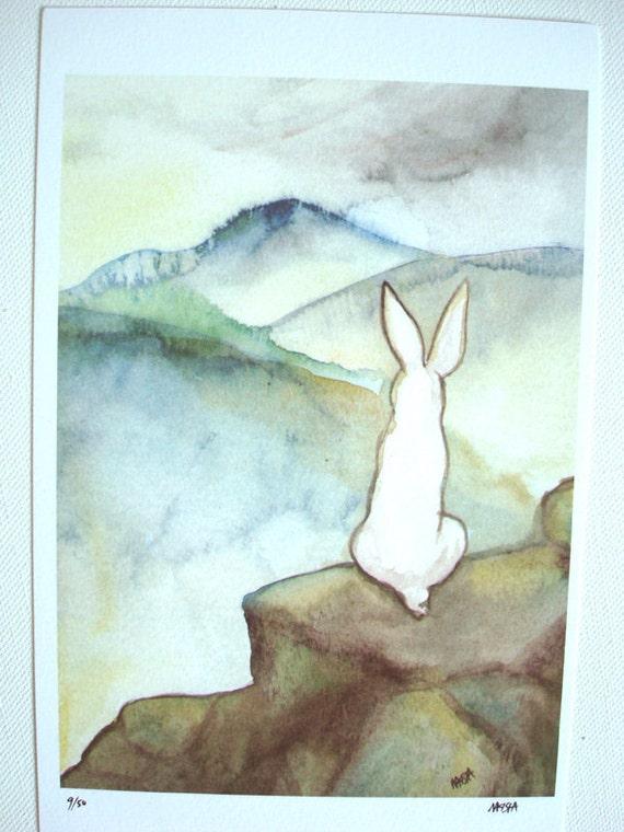 The Hermit - Limited Edition Fine Art Print - the Rabbit Tarot