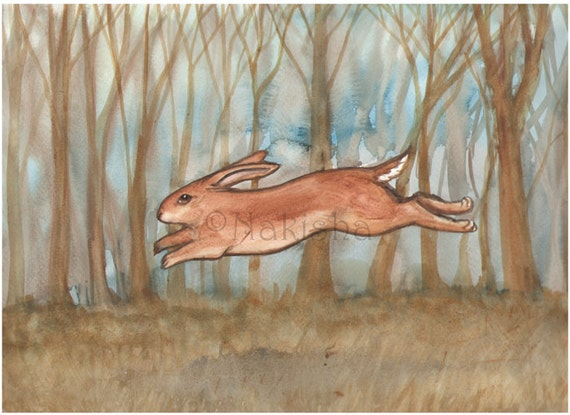 I Dream of the Same Things - Original Watercolor Animal Painting