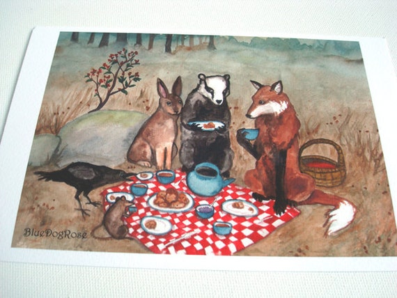 OOPS Print - The Fox's Picnic - Special Price