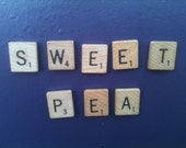 SWEET PEA Scrabble tile Magnet set