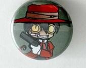 Chibi Hellsing Button - Alucard