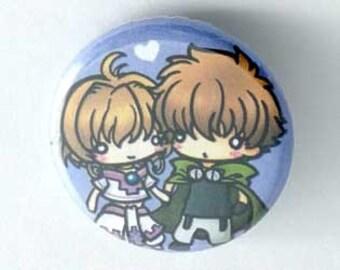 Tsubasa TRC - Syaoran & Sakura Button