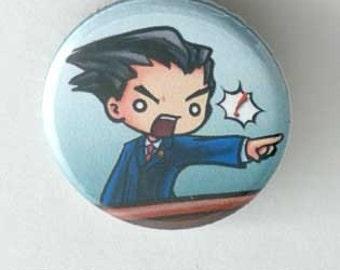 Chibi Ace Attorney - Phoenix Button