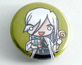 Bleach- Chibi Ukitake Button