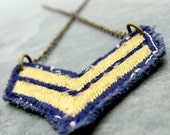 vintage chevron necklace, military honor (last one)