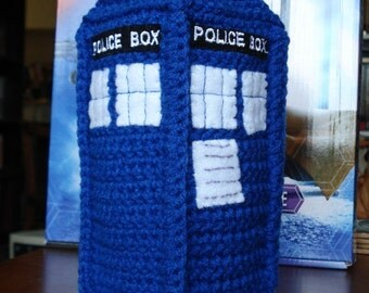 Crocheted Police Box Plushie