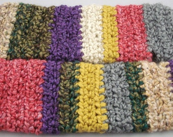 Multi-Colored Striped Crocheted Arm Warmers (size S-M) (SWG-AW-SH01)