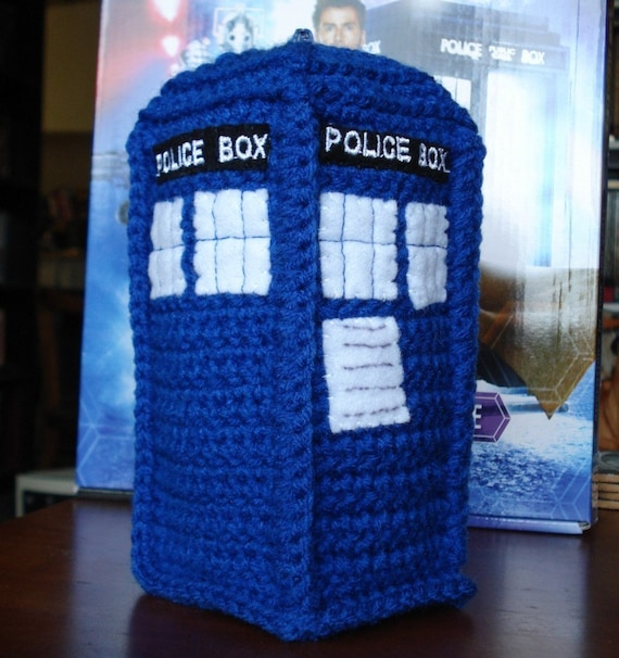 Crocheted TARDIS Plushie (Doctor Who)
