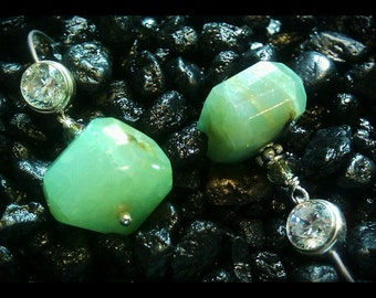 Green Flourite Earrings