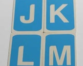 Wood Alphabet Flashcards Light Blue Set of 26 Upper Case Letters
