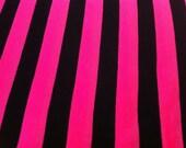 2 Yard Polyester Knit  Pink Stripe