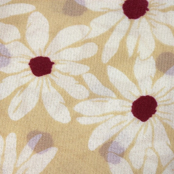 STRETCH DAISY FLORAL print mesh fabric