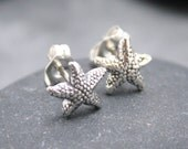STARFISH cartilage stud, earring, piercing, nose, sterling, silver, Post, 925, Modern, Tiny