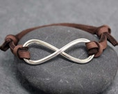 HEAVY INFINITY Adjustable, Leather, Bracelet, for men,father's day