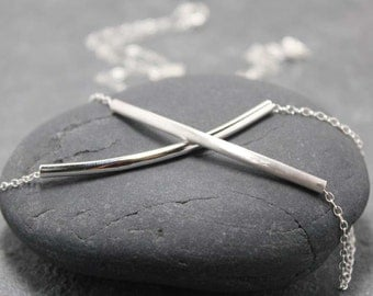 TUBE BAR necklace 925 sterling