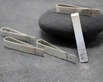 5pcs MIXED LETTER initial Tie Clip, bar,tack, for men