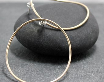 MODERN Large Hoops, Earrings,Sterling Silver,925,14k, yellow, gold filled, goldfill, gold