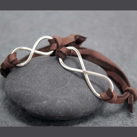 INFINITY LEATHER BRACELET,Men,Women,Couple,Set