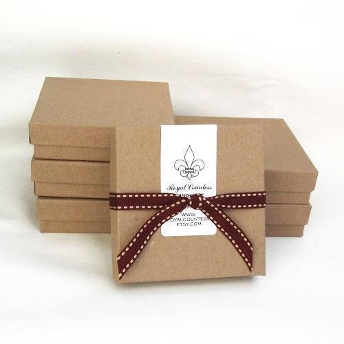 Kraft Jewelry Gift Boxes Large 10ea
