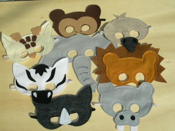 Full Safari Mask Set