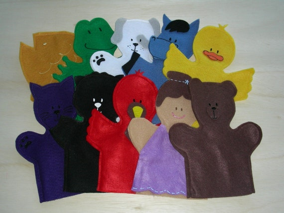 Brown Bear Puppet Set