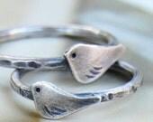 le petit oiseau sterling bird ring - custom