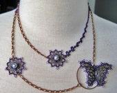 Purple Papillon Necklace