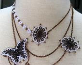 White Papillon Necklace