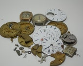 De-stash Vintage watch parts for mixed media steampunk collages