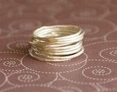 Twig Rings - 9 Super Thin Sterling Silver Rings Made to Order in Your Size
