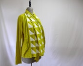 Triangles Cardigan in Chartreuse