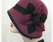 Cloche Hat Wool 1920s Flapper Hat - FannyMae