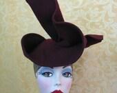 Reserved - Dorcas Wensell Unusual Headpiece Custom in Black