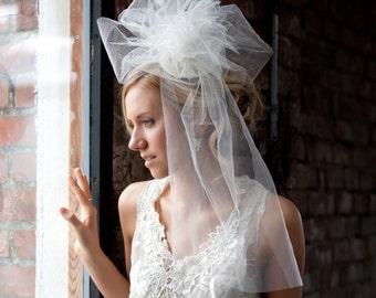 Wedding Headpiece Tulle Headpiece Bridal Fascinator