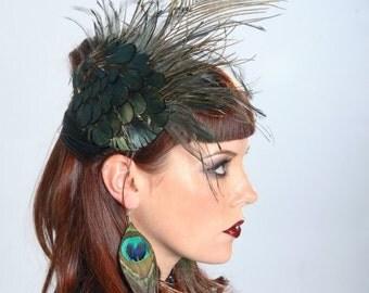 Hat - Feather Headpiece - Fascinator
