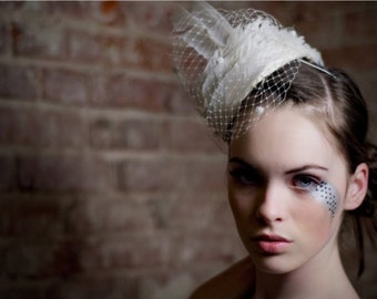 Wedding Hat Headpiece Feather Hat