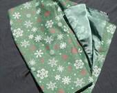 CLEARANCE Green Snowflake Blanket